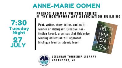 Summer Writer's Series - Anne-Marie Oomen